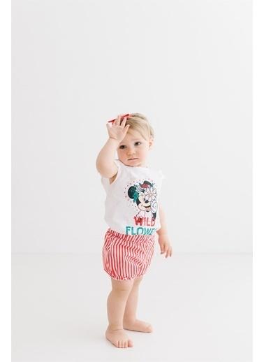 Minnie Mouse Lisanslı Bebek Takım 17461 Beyaz